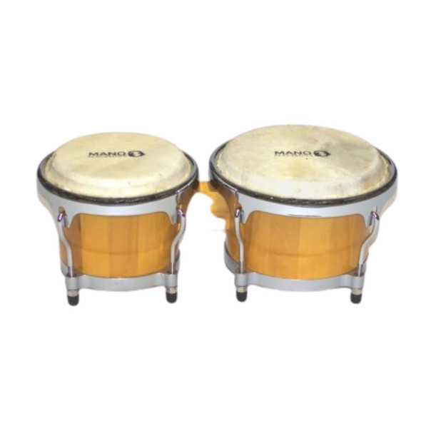 "Mano Percussion 7"" and 8 1/2"" Bongos - Natural Gloss"