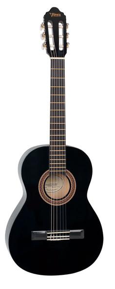 Valencia VC104 4/4 Size Classical Guitar - Black