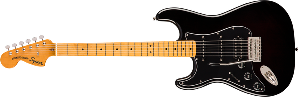 Squier Classic Vibe '70s Stratocaster® HSS Left-Handed, Maple Fingerboard, Black