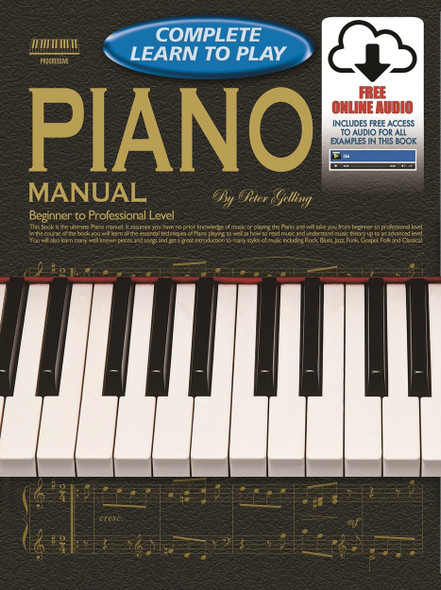 Progressive Complete Learn to Play Piano Book With Online Audio