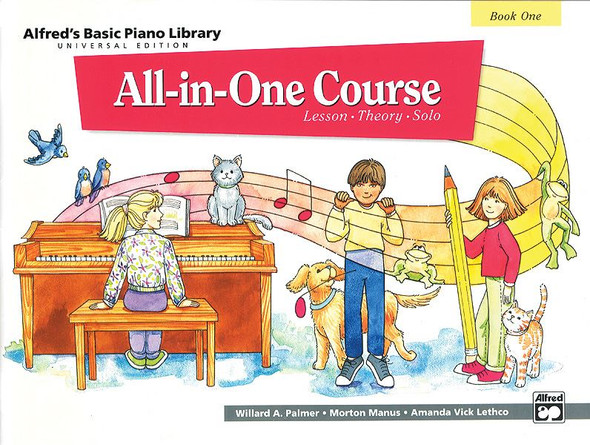 Alfred's Basic Piano Library: All-In-One Course Book 1