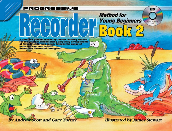 Progressive Recorder Method For Young Beginners Book 2 Bk/CD