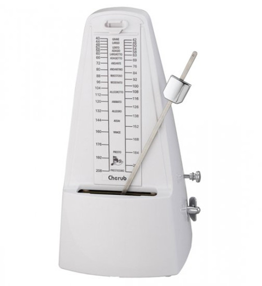 Cherub Mechanical Metronome - White