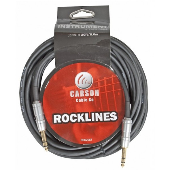 Carson Rocklines 20ft Stereo Instrument/Audio Cable