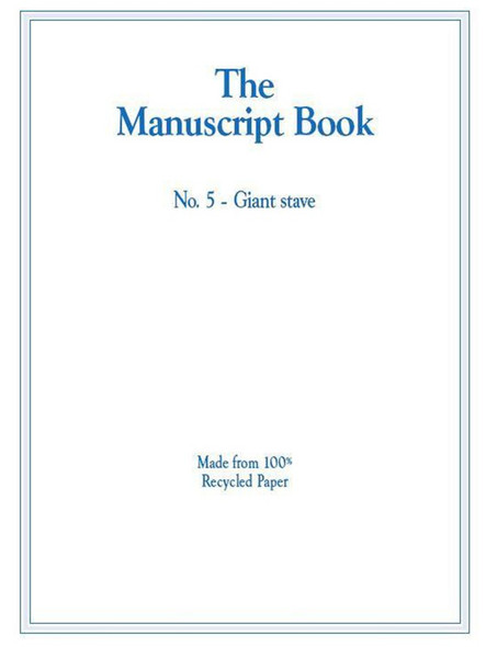 The Manuscript Book 5 - Giant Stave, Recycled paper