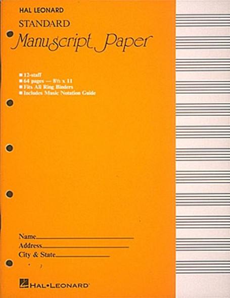 Standard Manuscript Paper (Yellow Cover)
