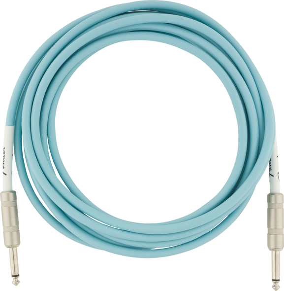 Fender Original Series Instrument Cable, 10' Daphne Blue