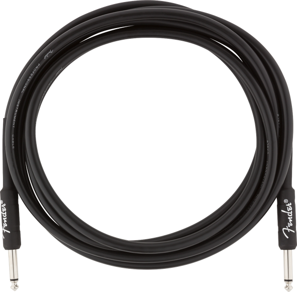 Fender Professional Series Instrument Cable, Straight/Straight, 10', Black