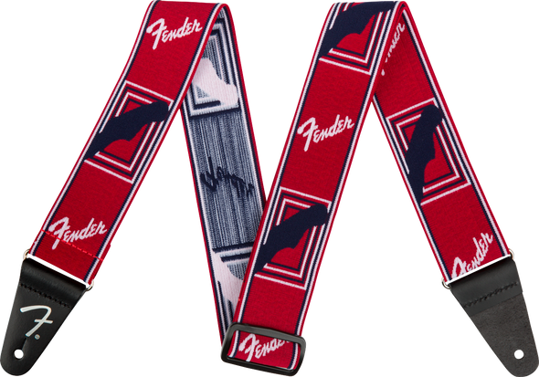 "Fender Weighless™ 2"" Mono Strap, Red/White/Blue"