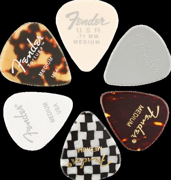 Fender 351 Picks, Material Medley, Medium, 6-Pack
