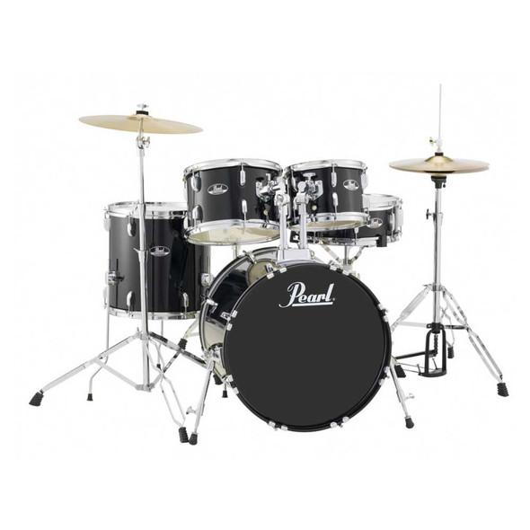 "Pearl Roadshow-X 20"" Fusion Drum Kit with 830 Pearl Hardware - Jet Black"