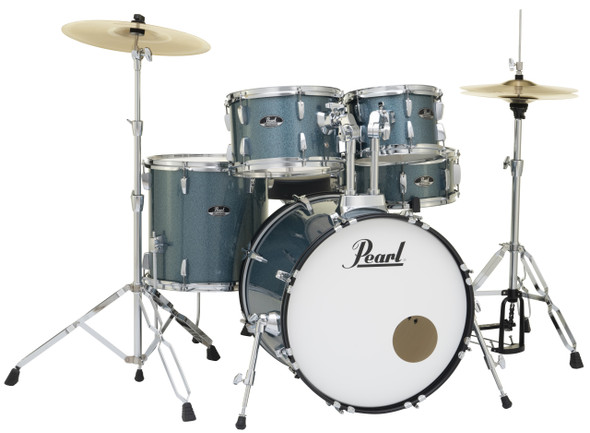 "Pearl Roadshow-X 20"" Fusion Plus Drum Kit with Pearl Hardware - Aqua Blue Glitter"