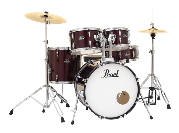 "Pearl Roadshow-X 20"" Fusion Plus Drum Kit with Pearl Hardware - Red Wine"