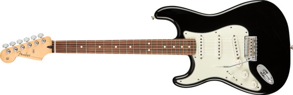 Fender B-Stock Player Stratocaster® Left-Handed, Pau Ferro Fingerboard, Black