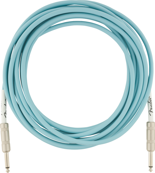Fender Original Series Instrument Cable, 18.6', Daphne Blue