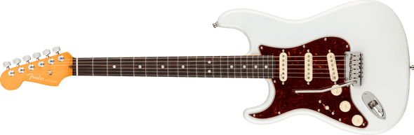 Fender American Ultra Stratocaster® Left-Hand, Rosewood Fingerboard, Arctic Pearl
