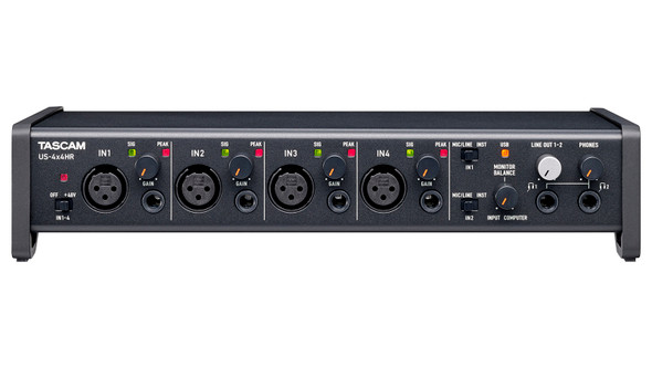 Tascam US-4x4HR 4 in/4out USB Recording Interface