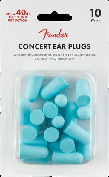 Fender Concert Ear Plugs - 10 Pack, Daphne Blue