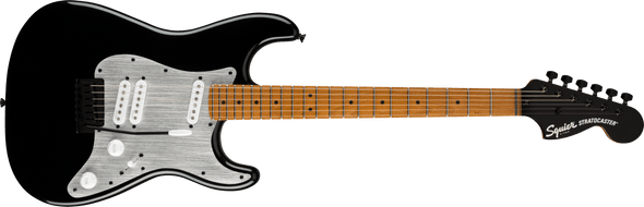 Squier Contemporary Stratocaster® Special, Roasted Maple Fingerboard, Silver Anodized Pickguard, Black