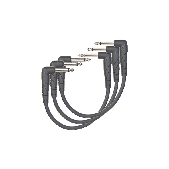 D'Addario Planet Waves Classic Series Patch Cables, 6in - 3 Pack