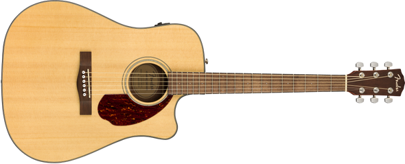 Fender CD-140SCE Dreadnought, Walnut Fingerboard, Natural w/case