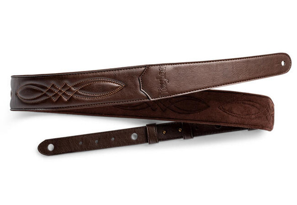 "Taylor 2"" Vegan Leather Guitar Strap - Chocolate Brown"