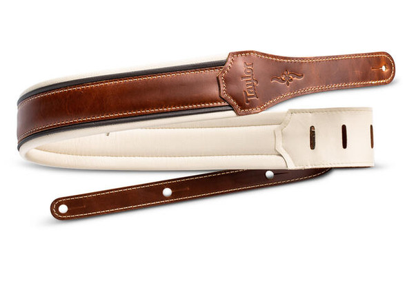 "Taylor Renaissance 2.5"" Leather Guitar Strap - Medium Brown"