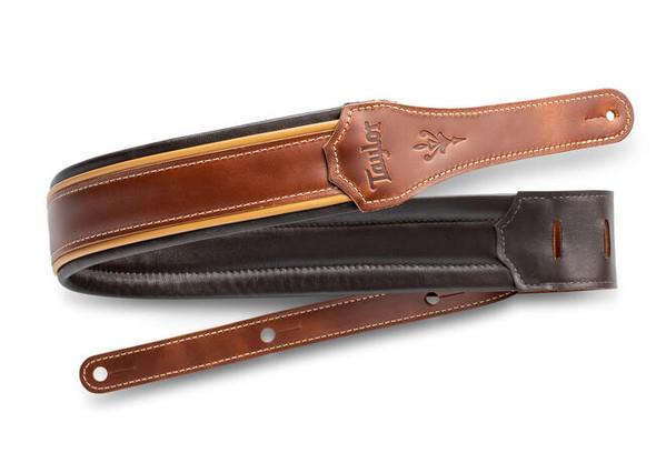 "Taylor Century 2.5"" Leather Guitar Strap - Medium Brown/Butterscotch/Black"