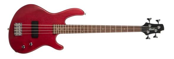 Cort Action Junior Electric Bass Open Pore Black Cherry Short Scale