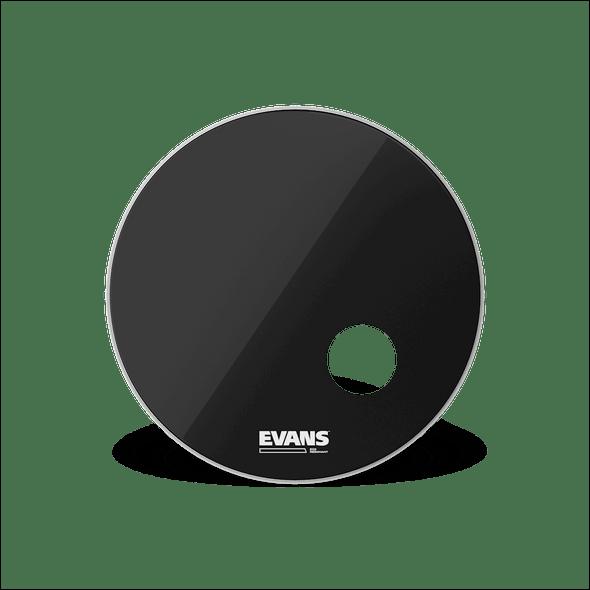 Evans EQ3 Resonant Black Bass Drum Head, 24 Inch