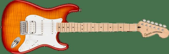 Squier Affinity Series™ Stratocaster® FMT HSS, Maple Fingerboard, White Pickguard, Sienna Sunburst