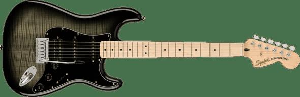 Squier Affinity Series™ Stratocaster® FMT HSS, Maple Fingerboard, Black Pickguard, Black Burst