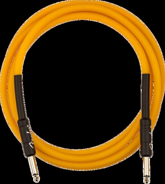 Fender Professional Glow in the Dark Cable, Orange, 10'
