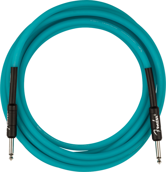 Fender Professional Glow in the Dark Cable, Blue, 18.6'