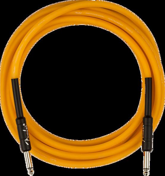 Fender Professional Glow in the Dark Cable, Orange, 18.6'