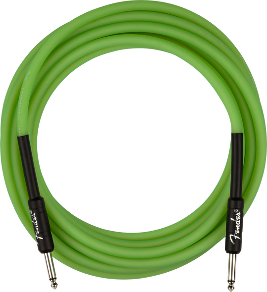 Fender Professional Glow in the Dark Cable, Green, 18.6'