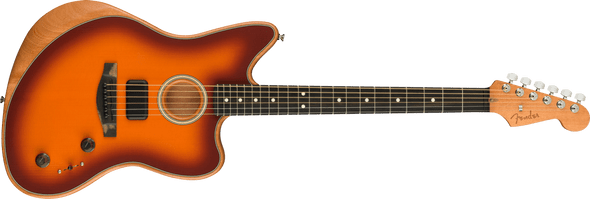 Fender American Acoustasonic Jazzmaster, Tobacco Sunburst, Ebony Fingerboard