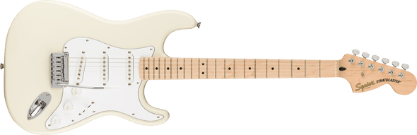 Squier Affinity Series Stratocaster, Maple Fingerboard, Olympic White