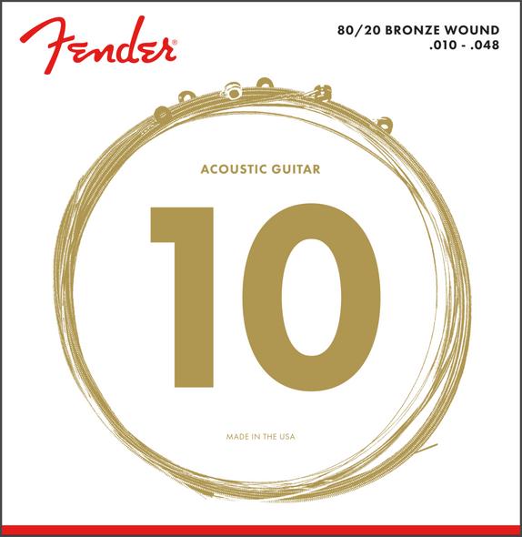 Fender 70XL 80/20 Bronze Acoustic Strings 10-48
