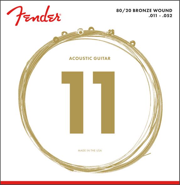 Fender 70CL 80/20 Bronze Acoustic Strings 11-52