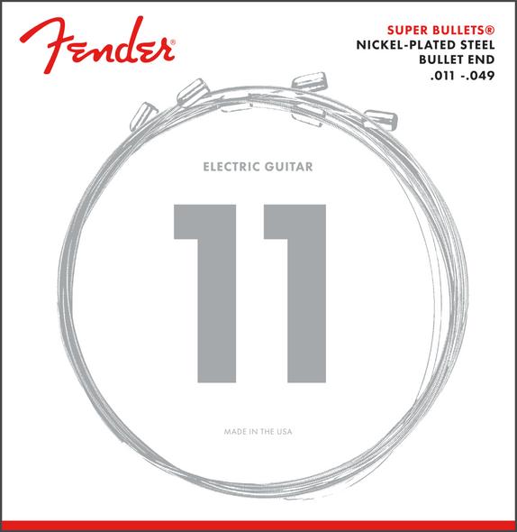 Fender Super Bullet® Strings, Nickel Plated Steel, Bullet End, 3250M