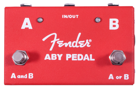 Fender® 2-Switch ABY Pedal, Red