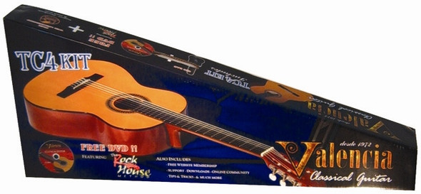 Valencia TC4K Full Size Classical Guitar Pack Natural Finish