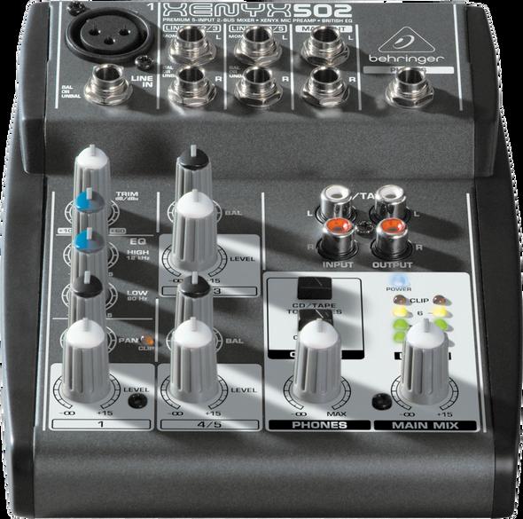 Behringer Xenyx 502 5 Input Mixer