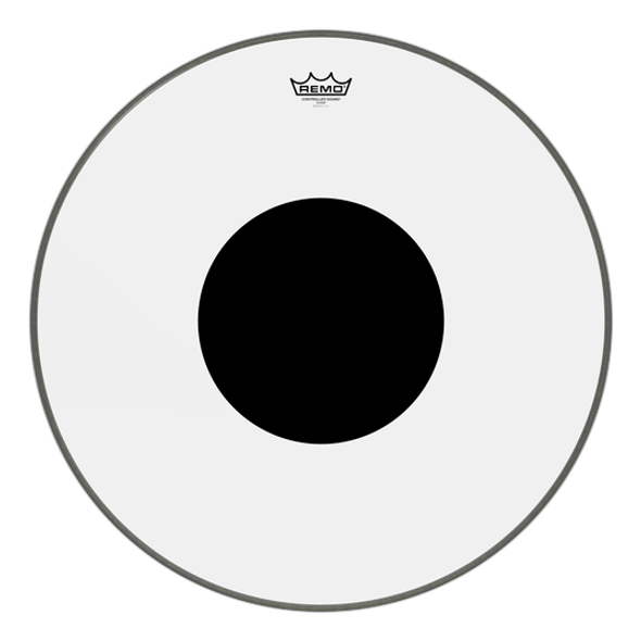 """Remo Controlled Sound 24"""" Bass Drum Head Clear, Black Dot on Top"""