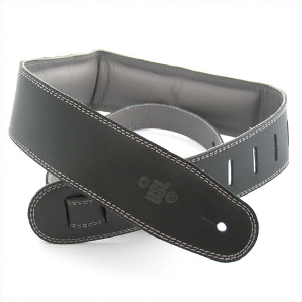 "DSL 2.5"" Padded Garment Black/Grey Guitar Strap"
