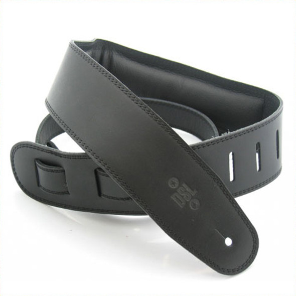 "DSL 2.5"" Padded Garment Black/Black Guitar Strap"