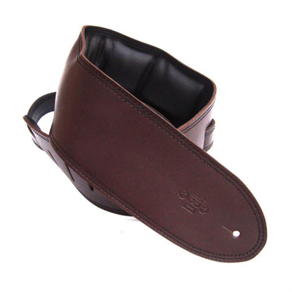 "DSL 3.5"" Padded Garment Saddle Brown/Black Guitar Strap"