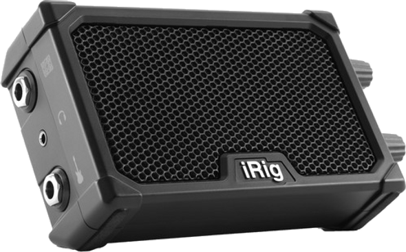 IK Multimedia iRig Nano Amp (Black) Battery Powered Amplifier & Interface for iOS