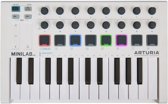 Arturia MiniLab Mk II 25-Note USB MIDI Keyboard Controller